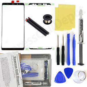 Black Outer Front Screen Glass Replacement Kit for Samsung Galaxy Note 9 N960