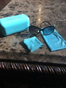 TIFFANY&CO Designer SUNGLASSES PEARLSCRYSTALS AUTHENTIC ITALY