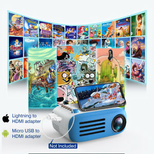 1080P HD LED LCD Projector Multimedia Home Theater TF AV USB HDMI for Smartphone
