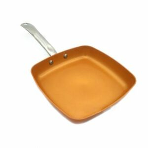 Square Non-stick Saucepan Copper Frying Pan With Ceramic Coating Skillet Frying