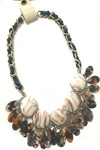 ANTHROPOLOGIE GAIL BIB NEUTRAL NECKLACE -- NEW WITH TAG