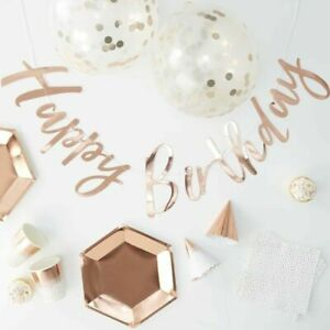 Rose Gold Foiled Complete Party In A Box - Party In A Box