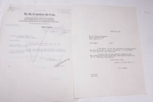 1934 Lamson Goodnow R K Carter and Co NYC Letter Ephemera P713K