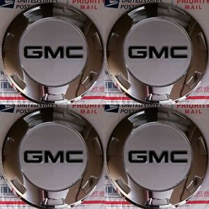 4pc Cadillac ESCALADE 22 CENTER CAPS WITH GMC BLACK LOGOS