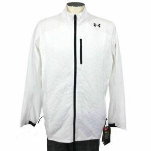 Under Armour Coldgear Reactor Jacket XL Loose White 1298922 Mens NWT $130