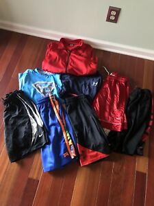 Lot of 8 Under Armour Nike Youth Boy MLXL Shorts Top Jacket