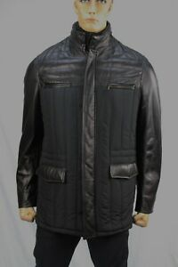 Authentic Cerruti 1881 Men's poly-leather jacket US L-42 Made in Italy.