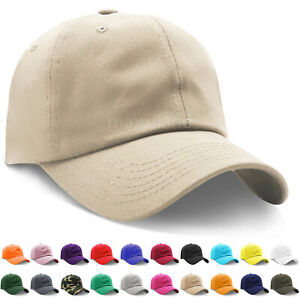 Mens Adjustable Cotton Baseball Caps Dad Hat Washed Ball Cap for Men and Women $7.89