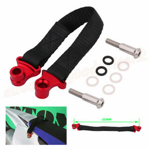 1x Universal 325mm Motocycle ATV Rear Rescue Pull Bundle Belt Draw Leashes Strap
