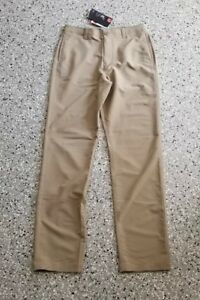 New Under Armour Youth Boys Golf Long Pants Flat Front Adjustable Waist X-Large
