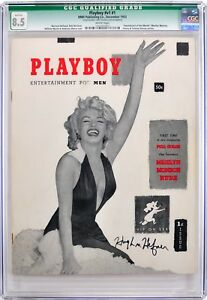 Playboy #1 December 1953  CGC 8.5  Signed by Hugh Hefner  JSA LOA