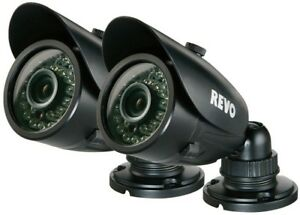Revo Wired 700 TVL IndoorOutdoor Bullet Surveillance Camera with 100 ft. Night