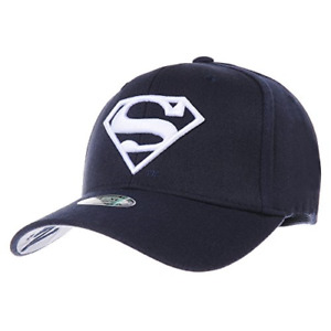 WITHMOONS Superman Shield Embroidery Cotton Baseball Cap AC3260 NavyWhite L