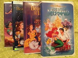 Little Mermaid Banned Cover Black Diamond VHS Beauty And Beast Black Diamond