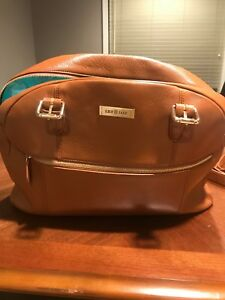 Lily Jade Rosie 2.0 Leather Diaper Bag with Backpack Strap Attachment Camel