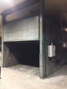 Nordson Powder Coat Paint Booth & Oven w Twin Powder Recovery System +