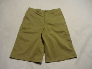 NEW Boys Youth Under Armour Match Play Shorts Golf Brown size 14 YMD Medium
