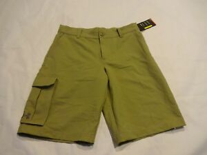 NEW Boys Youth Under Armour Golf Shorts Youth Large YLG Khaki Brown