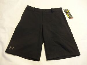 NEW Boys Youth Under Armour Golf Shorts Youth Large YLG Black
