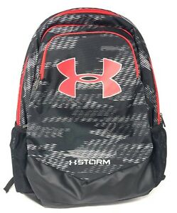 Under Armour Boys UA Storm Scrimmage Backpack 1277422 blackred (USED)