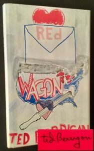 Ted Berrigan  Red Wagon Signed & with Phoenix Book Shop Ephemera Poetry 1st ed