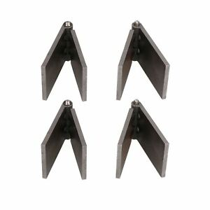4 Pack Steel Butt Hinges Weld On Extra Heavy Duty Industrial 50x161mm