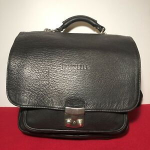 Rare Blood Bull Black Leather Backpack Briefcase Shoulders Bags Schoolbag Brazil
