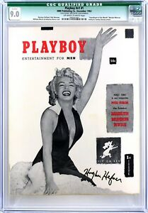 PLAYBOY  December 1953  CGC 9.0  Signed by Hugh Hefner  JSA LOA
