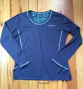 Brooks Running Women's Athletic Long Sleeve Tee T-Shirt - Blue - Sz L Large