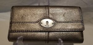 Fossil Marlow flap style pebble leather gold fossil ladies walletcoin purse