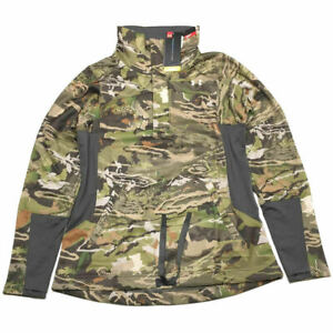 Under Armour 12 Zip Pullover M Camo Early Season Shirt Jacket Women NWT $100