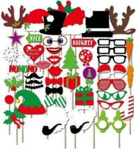 50 Pcs Christmas Halloween Birthday Party Photo Booth Props On A Stick for Par..