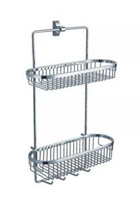 Fluid Faucets FA20054 Wall-Mounted 2-Tier Shower Basket Chrome 1-Pack  $85.00