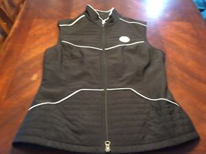 Womens Cutter and Buck Steelers Size S Winter Vest Front Zip