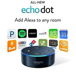 Amazon Echo Dot 2nd Generation w Alexa Voice Media Device - Black