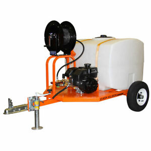 Easy-Kleen RV & Car Lot 2700 PSI (Gas - Cold Water) Pressure Washer Trailer w...