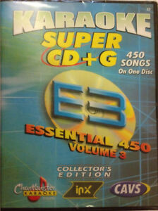 CHARTBUSTER ESSENTIAL SUPER CD+G Vol-3 450 Tracks Playable on CAVS System or PC