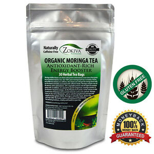 Moringa Tea 100% Pure 30 Bags Organic All Natural Energy Booster