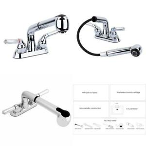 Ldr Industries Universal Laundry Tub Faucet By Maya  Pull Out Spray Spout Non-