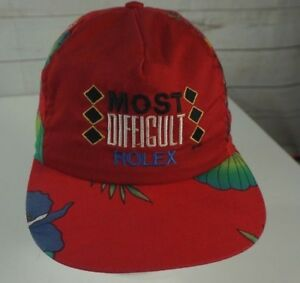 Rare Vintage MOST DIFFICULT Rolex Cap Hat Fresh Prince Tropical Red