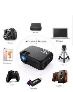 NEW Projector DBPOWER T22 Upgraded 2400 Lumens LCD Portable Projector-BLACK
