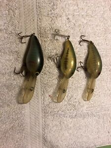 3 Bill Norman DD-22 Crank Bait Old Fishing Lures 11