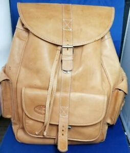 VINTAGE CHACO NATURAL LEATHER BACKPACK