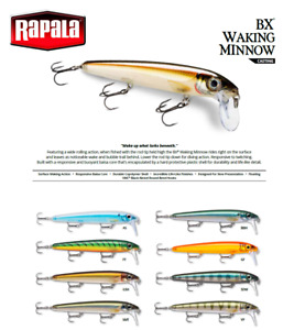 Rapala BX Waking Minnow Floating Fishing Lure 13cm 22g Various Colours