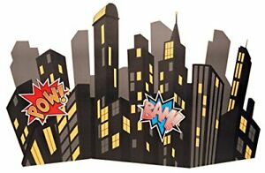 Superhero Comics Party Supplies Scene Setter for Photo Props Background 73 Inch