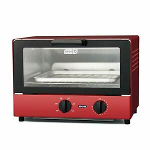 Toaster Oven Cooker for Bread Bagels Pizza with baking Tray Rack Auto Shut Off