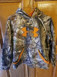 Boy's Under Armour Realtree Camo Loose Fit Hoodie Sweatshirt - Youth Large