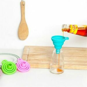 Random Silicone Gel Practical Collapsible Foldable Funnel Hopper Kitchen Tool