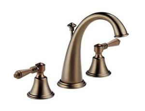 BRIZO 6520-BZLHP WIDESPREAD LAVATORY FAUCET W POP-UP BRUSHED BRONZE NO HANDLES
