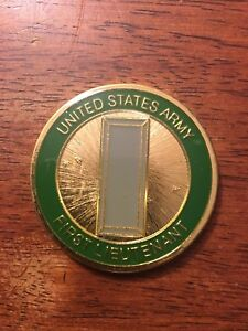 New Military Collector Coin  -First Lieutenant - Army Coin Item